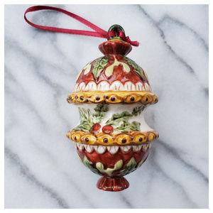 Villeroy & Boch Holly Christmas Ornament